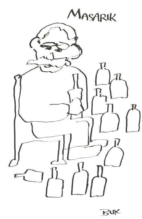 Al Masarik | Illustration by Charles Bukowski