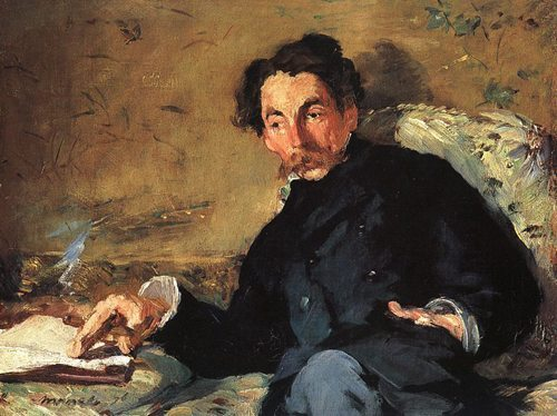 Stéphane Mallarmé - 18 March 1842 – 9 September 1898, whose real name was Étienne Mallarmé, was a French poet and critic. He was a major French symbolist poet, and his work anticipated and inspired several revolutionary artistic schools of the early 20th century, such as Cubism, Futurism (art), Dadaism, and Surrealism. Portrait by Edouard Manet