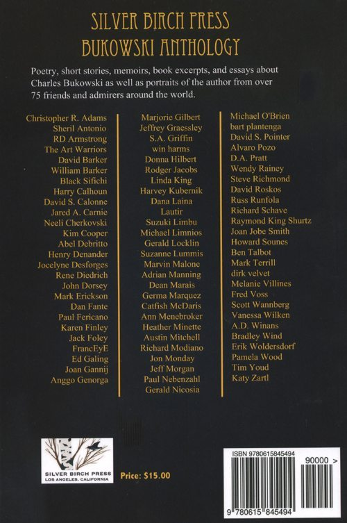 bukowski | an anthology of poetry & prose about charles bukowski | silver birch press